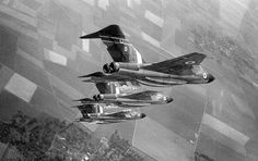 Gloster Javelins  - RAF's first purpose build all weather jet fighter.