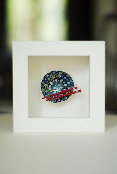 Kintsugi Eggshells Bowl and Chopsticks- 6 – Elisa Sheehan Fine Art