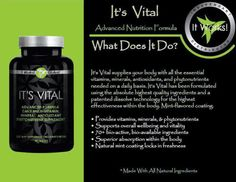 It's Vital~ A gluten-free, whole-food multivitamin that gives you the core antioxidants, phytonutrients, and vitamins your body needs right when you need them with controlled-release technology for sustained nutrition for up to 12 hours.