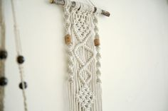 macrame wall hanging can hang & decor your walls and give your home bohochic. this modern macrame gives your room warm feeling, you can hang it in your badroom,living room or any other room.  ^^^^^^^^^^^  Macrame width- 20 cm ( 7.5inches ) Macrame length- 65cm ( 25.5 inches)  ^^^^^^^^^^^ Wall tapestry, Macrame Wall Hanging, Modern Macrame, Wall Art, Boho Wall Hanging, Macrame Tapestry, boho art, boho decor