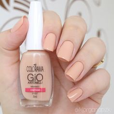 Esmalte Mimando da Gio Antonelli para Colorama. Unhas nude. Nude nails. Nail art. Polishes. Polished. Beautiful. by @morganapzk