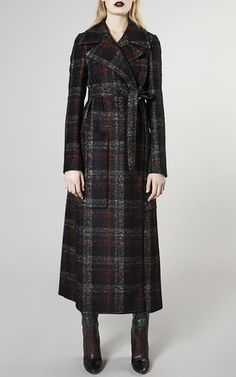 Checked Alpaca Wool Coat by ROCHAS Now Available on Moda Operandi