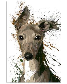 Greyhound Unique Art Q1 shirts, apparel, posters are available at TeelalandClothingCoGraphicTees&Poster. Greyhound Art, Italian Greyhound, Greyhound Tattoo, Dog Artwork, Work With Animals, Grey Hound Dog, Abstract Animals, Dog Paintings, Watercolor Artwork