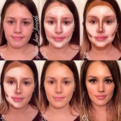 Glam with contouring