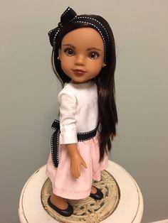 Dress for 14-inch Dolls by ThePinkChifferobe on Etsy https://www.etsy.com/listing/286287801/dress-for-14-inch-dolls