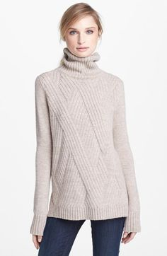 Vince 'Travelling' Ribbed Turtleneck Sweater available at #Nordstrom