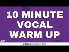 10 Minute Vocal Warm Up - YouTube