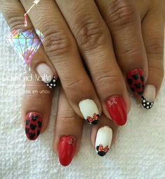 Decals minie, resina moldeada oval nails