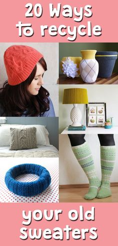 Make the most out of your old sweaters with these easy DIY projects.