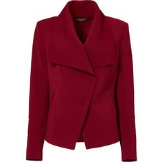 Rental Greylin Red Manda Blazer (2,000 INR) ❤ liked on Polyvore featuring outerwear, jackets, blazers, coats, tops, dresses, red, long sleeve blazer, blazer jacket and long sleeve jacket