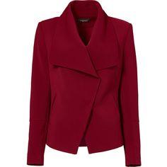 Rental Greylin Red Manda Blazer ($30) ❤ liked on Polyvore featuring outerwear, jackets, blazers, coats, coats & jackets, red, dresses, blazer jacket, red jacket and red blazer jacket