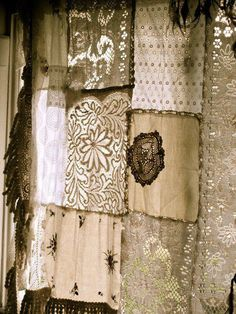 What a great Idea. Pieces of lace and old doilys from Duchess sets.