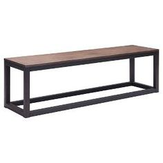 Civic Center Bench Metal/Distressed Natural - Zuo : Target