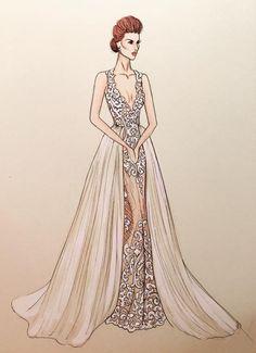 Stunning #BERTA sketch by HL Illustrations <3