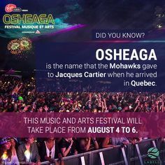 Osheaga's Festival from August 4 to Jacques Cartier, Executive Suites, Art Festival, Montreal, Did You Know, Names, Music, Old Montreal, Musica