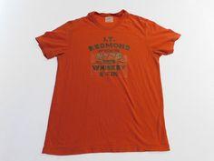 J. Crew T Shirt Mens Size M Medium Bright OrangeCasual Summer Shirt Short Sleeve #JCREW #Casual