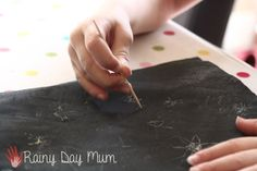 DIY Scratch Art Paper - ideal for those star, fireworks and fair ground pictures