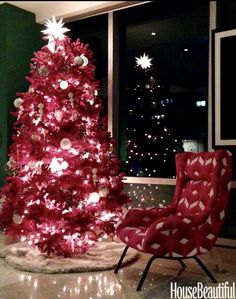 How Our Favorite Designers are Decorating for the Holidays Winter Holidays, Holidays And Events, Pink Trees, Blue Color Schemes, Christmas Decorations, Holiday Decorating, Christmas Trees, Merry Christmas, All Things Christmas