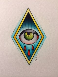 Original Eye Painting by Alex Strangler by AlexStrangler on Etsy, $60.00
