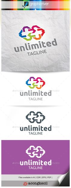 Unlimited V.3 Logo Design Template Vector #logotype Download it here: http://graphicriver.net/item/unlimited-v3/10498023?s_rank=1385?ref=nesto