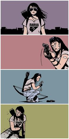 Blink. And I shoot. Kate Bishop in Hawkeye #22