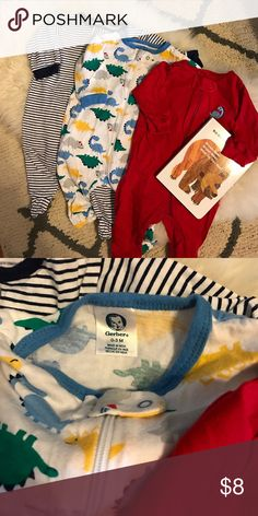 🆕 listing! Gerber cotton sleep n play lot! These are all in excellent used condition, only show minimal signs of wash. Our favorite Jammie's in the summer- I bought 2 packs!! Gerber Pajamas