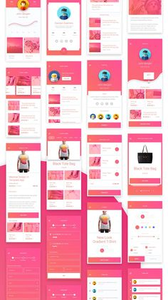 Matta - Material Design Mobile UI Kit on Behance - App design - Diseño Ios App Design, Mobile Ui Design, Android App Design, Iphone App Design, Android Apps, Design Ui, Design Agency, App Design Inspiration, Webdesign Inspiration