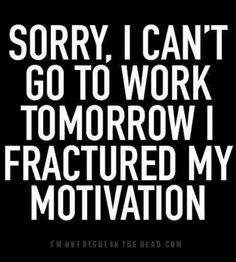 Wish this was a legitamate excuse! Id never go to work lol #wdspublishing
