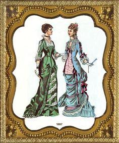 Victorian fashion, 1887