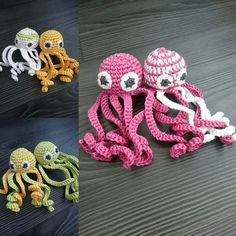I have been crocheting this week..what do you think about these cuties? #crocheting #virkkaus #turvalonkero #forbaby #keskosille #mustekala #octopus #handmade #amigurumi #igcrochet #crochetersofinstagram by lets_make_this_a_good_day