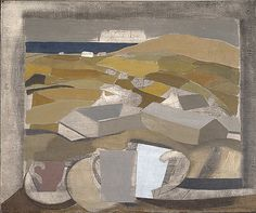 1946 (window in Cornwall) by Ben Nicholson Date painted: 1946 Oil, pencil, charcoal & surface scratching on canvas, x cm Abstract Landscape, Landscape Paintings, Abstract Art, Francis Picabia, Georges Braque, Art Uk, Art Design, Your Paintings, Modern Paintings