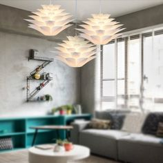 Cheap pendant lampshade, Buy Quality led hanging directly from China led hanging lamp Suppliers: DIY Lily Lotus IQ Puzzle Pendant Lampshade Cafe Restaurant Ceiling Room Decoration LED Hanging Lamp White Lights Old Lamp Shades, Shabby Chic Lamp Shades, Rustic Lamp Shades, Painting Lamp Shades, Modern Lamp Shades, Floor Lamp Shades, Ceiling Lamp Shades, Painting Lamps, Man Cave Floor Lamps