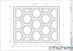 Geometric Coffered Ceiling Design - Hexagonal 01