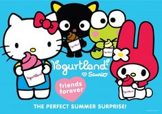 Sanrio + Yogurtland = Friends Forever!
