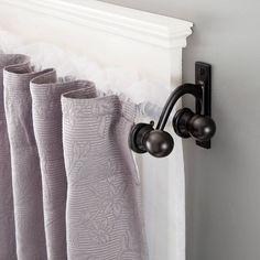 5 8 Scroll Ball Standard Decorative Window Double Curtain Rod