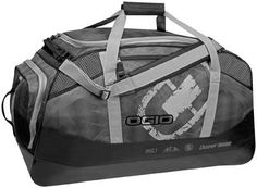 Ogio Dozer 8600 Gear Bag – Black  Ogio Dozer 8600 Gear Bag Large main ventilated compartment and multi-use dual end pockets Wide mouth U-shaped opening for easy access to all gear Secondary end pocket with accessory organization for smaller gear iFOM integrated foam panel construction throughout for added gear protection Side accessory valuables pocket Padded adjustable shoulder strap Easy grab end handles for transport 15″ h x 18″ w x 32″ d 8640Cu.In142L 5.4lBS2.4Kg 600d poly PVC, t..