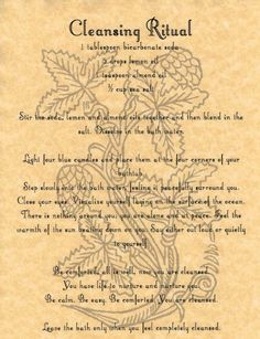 Cleansing Ritual, Book of Shadows Page, BOS Pages, Rare Wiccan Spells, Pagan picclick.com: