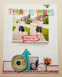 Becky Novacek created this layout for Summer CHA 2012