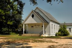 Notchaway Baptist Church Baker County GA Rural Southern Religion Wiregrass Pictures Photo Copyright Brian Brown Photographer Vanishing South Georgia USA 2011