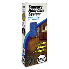 Cleaner Solutions - Squeaky Floor Care System, $29.95 (http://www.csisupplies.com/squeaky-floor-care-system/) The Squeaky Floor Care system is designed for daily cleaning of wood, laminate, and other hard surface floors.