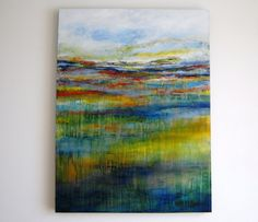 Large Abstract Landscape Painting Modern Textured by Tamarrisart, £295.00