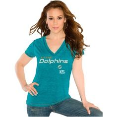 Touch by Alyssa Milano Miami Dolphins Ladies End-Line Slim Fit T ...