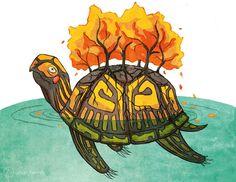The Ojibwe Creation Story: Turtle Island – Urban Hermits Canadian History, Native American History, Native American Indians, Native Americans, Kunst Der Aborigines, Avatar, History Tattoos, Creation Myth, Aboriginal Art