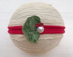 Christmas tieback  Tieback headband  by DESERTROSECOUTURE on Etsy