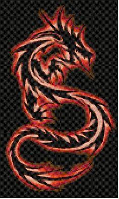Asian Dragon Cross Stitch Pattern