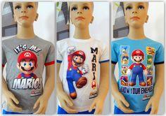 Nintendo Super Mario T-Shirt Kurzarmshirt Gr.104,110,116,128,140