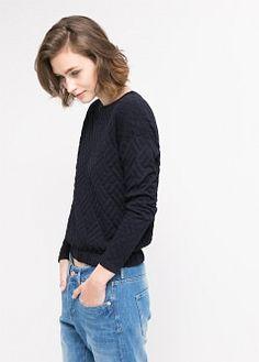 Jersey textura - Mujer   MANGO