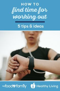 Learning how to find time to work out during your busy schedule can be hard. Explore these tips to find time to exercise with help from My Food and Family. Post Workout Stretches, Pre Workout Nutrition, Good Pre Workout, Healthy Living Recipes, Air Squats, Excercise, How To Stay Healthy, Schedule, Natural Remedies