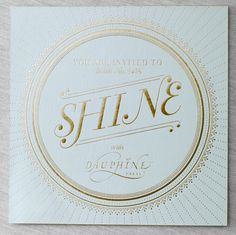 gold foil stamping and gorgeous type