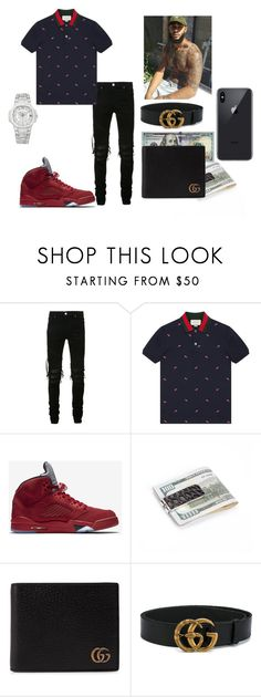 """""""damn"""" by thenewclassic-278 on Polyvore featuring AMIRI, Gucci, NIKE, Patek Philippe, men's fashion and menswear"""